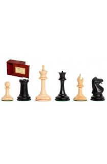 """The Anderssen Dropjaw Series Library Chess Pieces - 2.875"""" King - Includes Free Slide-Top Box"""