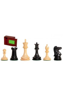 """The Zukertort Series Library Chess Pieces - 2.875"""" King - Includes Free Slide-Top Box"""