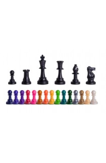 "Triple Weighted Colored Regulation Plastic Chess Pieces - 3.75"" King"