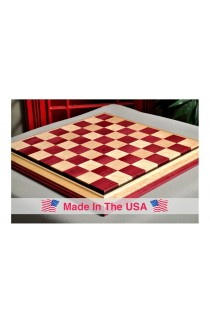 "Signature Contemporary III Luxury Chess board - PURPLEHEART / BIRD'S EYE MAPLE - 2.5"" Squares"
