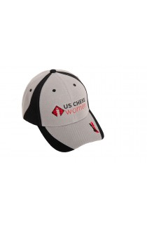 US Chess Women Baseball Hat - Gray & Black