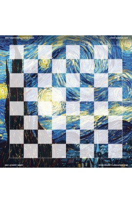 Starry Night - Full Color Vinyl Chess Board
