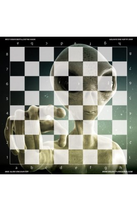 Alien Encounter - Full Color Vinyl Chess Board