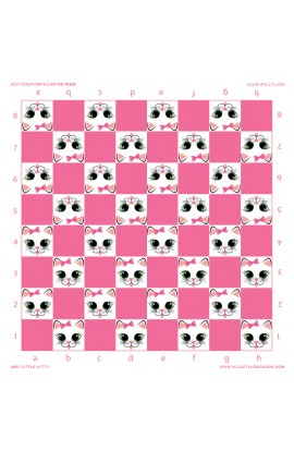 Little Kitty - Full Color Vinyl Chess Board