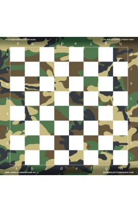 Jungle Camo  - Full Color Vinyl Chess Board