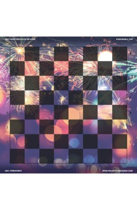 Fireworks - Full Color Vinyl Chess Board
