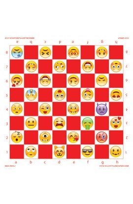 Emoji - Full Color Vinyl Chess Board
