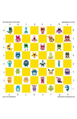 Little Monsters - Full Color Vinyl Chess Board
