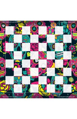 Sugar Skulls No. 2 - Full Color Vinyl Chess Board