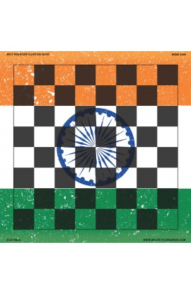 India - Full Color Vinyl Chess Board
