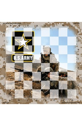United States Army - Full Color Vinyl Chess Board