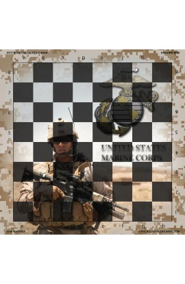 United States Marines - Full Color Vinyl Chess Board