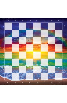 Beach Sunset - Full Color Vinyl Chess Board