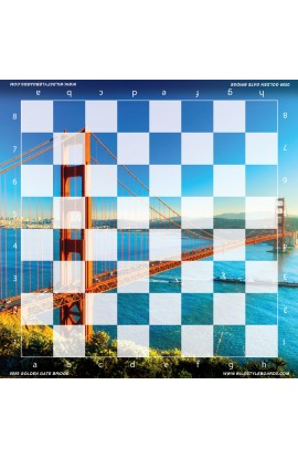 Golden Gate Bridge - Full Color Vinyl Chess Board