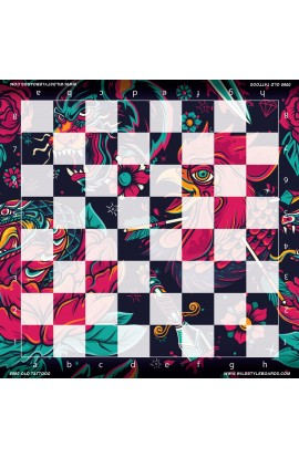 Old Tattoos - Full Color Vinyl Chess Board
