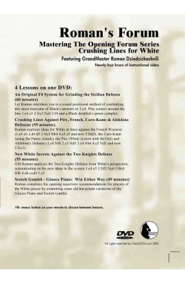 E-DVD ROMAN'S LAB - VOLUME 33 - Mastering The Opening Forum Series - Crushing Lines for White