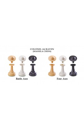 "The Next Gen Pawns Plastic Chess Pieces - 3.75"" King - Colonel Variation"