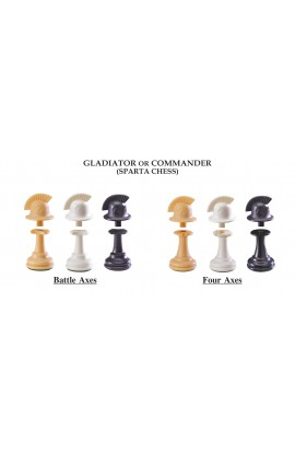 "The Next Gen Pawns Plastic Chess Pieces - 3.75"" King - Commander Variation"