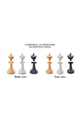 "The Next Gen Pawns Plastic Chess Pieces - 3.75"" King - Corporal Variation"