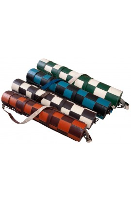 "Premium Leather Chess Board and Storage Quiver - 2.25"" Squares"