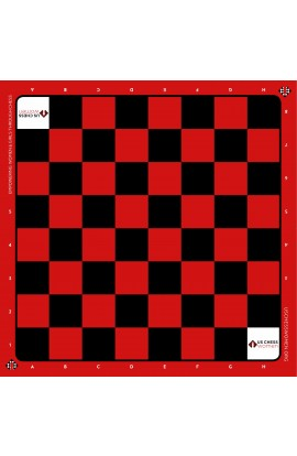 US Chess Women - Silk Screened Vinyl Chess Board - Red/Black