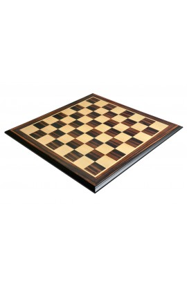 "Luxe Traditional Chess Board - STRIPED EBONY / MAPLE - 2.5"" Squares"