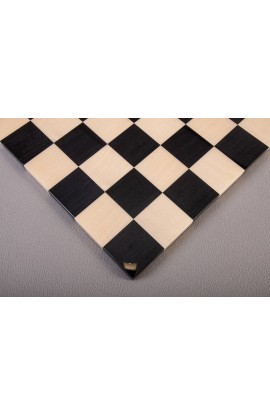 Frameless Modern Wood Chess Board - Ebony / Maple - Gloss