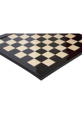 Macassar Ebony & Maple Signature Traditional Chess Board - Gloss Finish