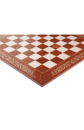 INLAID - Vavona Burl & Maple Superior Traditional Chess Board - Gloss Finish