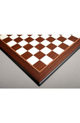 Striped Ebony & Bird's Eye Maple Standard Traditional Chess Board - 3.0""