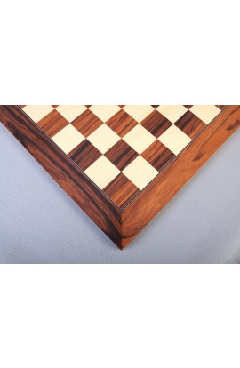 Santos Palisander & Bird's Eye Maple Standard Traditional Chess Board - Satin Finish
