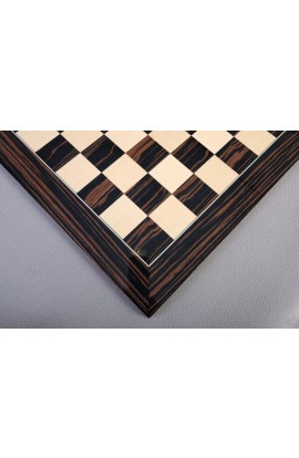 Macassar Ebony Standard Traditional Chess Board - Gloss Finish