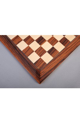 Santos Palisander & Bird's Eye Maple Standard Traditional Chess Board - Gloss Finish