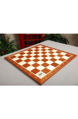 Mahogany and Maple Wooden Tournament Chess Board