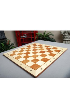 "CLEARANCE - Maple and Mahogany Wooden Tournament Chess Board - 2.25"" Squares"