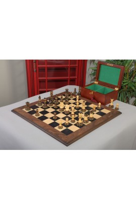 The Burnt Dubrovnik Series Chess Set, Box, & Board Combination