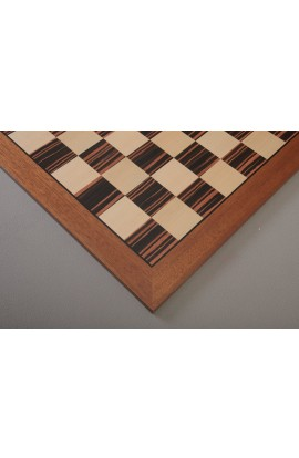 Macassar Ebony & Bird's Eye Maple Championship Double-Sided Chess Board - Satin Finish