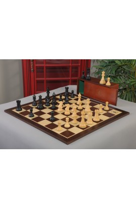 "The 4.4"" Classic Series Chess Set, Box, & Board Combination"