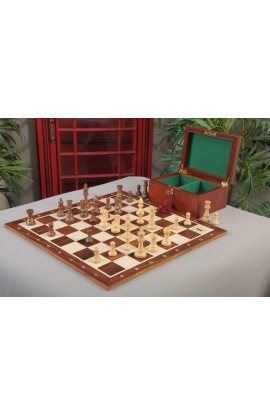 The Club Series Chess Set, Box & Rosewood Tournament Board Combination