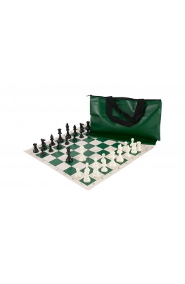 Superior Chess Set Combination - Triple Weighted Regulation Pieces | Vinyl Chess Board | Superior Bag