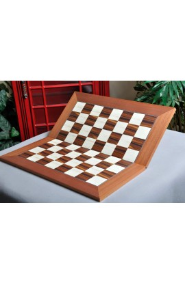 Indian Rosewood and Bird's Eye Maple Folding Standard Traditional Chess Board
