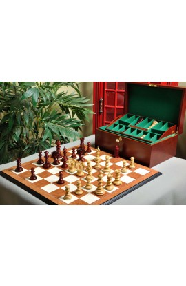 The Savano Series Luxury Wood Chess Set, Box, & Board Combination