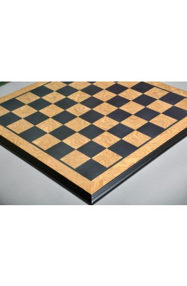 "Luxe Traditional Chess Board - MAPLE BURL / EBONY - 2.5"" Squares"