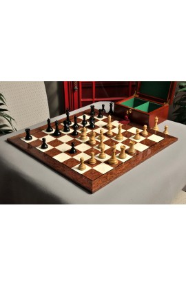 "Reproduction of the Drueke Player's Choice Chess Set, Board, & Box Combination - 3.75"" King"