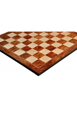 Elm Burl & Maple Superior Traditional Chess Board - 2.5""