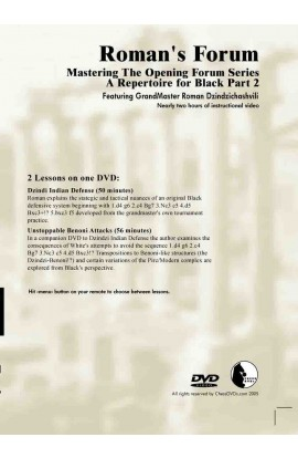 E-DVD ROMAN'S LAB - VOLUME 32 - Mastering The Opening Forum Series - A Repertoire For Black - PART 2