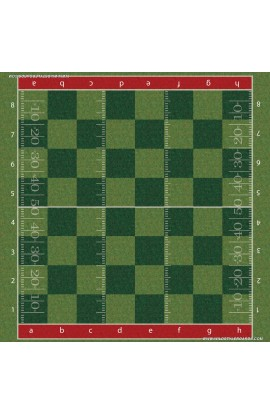 Football - Full Color Vinyl Chess Board