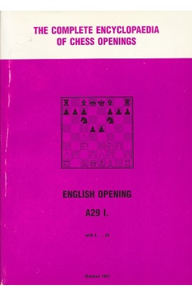 CLEARANCE - The Complete Encyclopedia of Chess Openings - English Opening A29