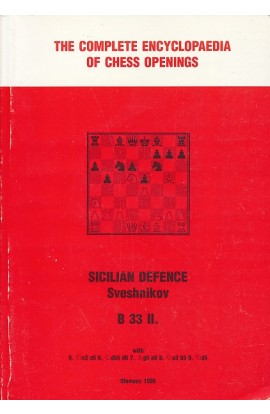 CLEARANCE - The Complete Encyclopedia of Chess Openings -Sicilian Defence Sveshnikov B33 II
