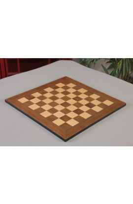 "IMPERFECT - Walnut & Maple - Standard Traditional Chessboard - 1.575"" Squares"